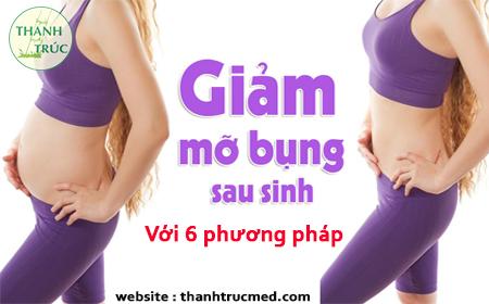 giảm béo mỡ bụng sau sinh